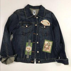Gap Custom Stitching Women's Jean Jacket Large